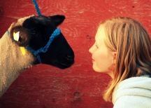 Madeline and her lamb