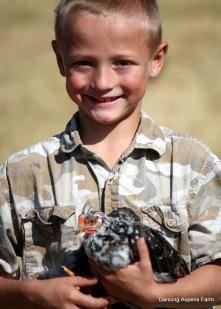 Hayden and an Icelandic Chicken