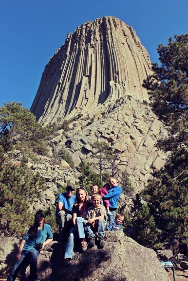 Kids by Devil's Tower