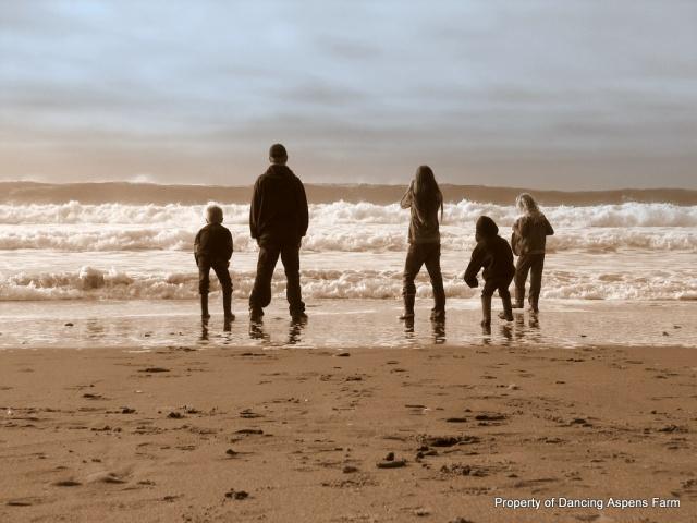 Kids in waves...