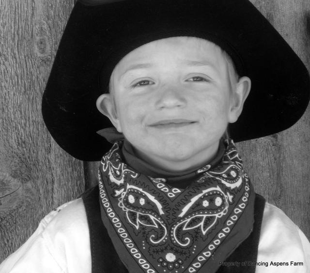 My little cowboy, Hayden