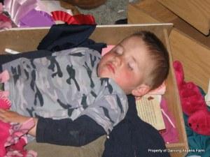 A tired little boy...