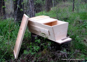 Mark's Top Bar Hive that he built