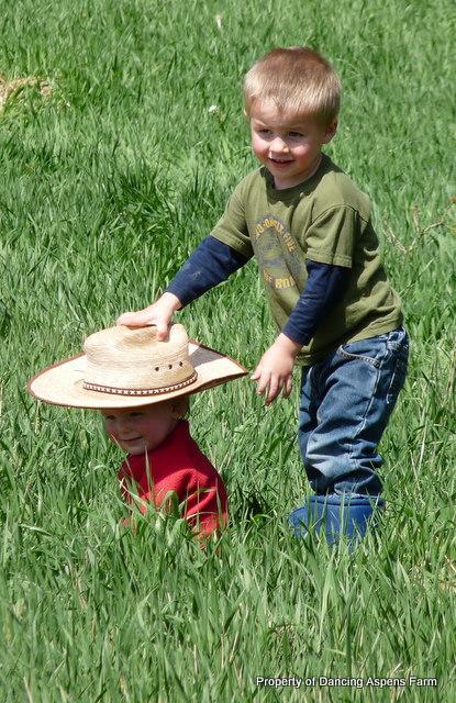 Teigen sharing his hat...