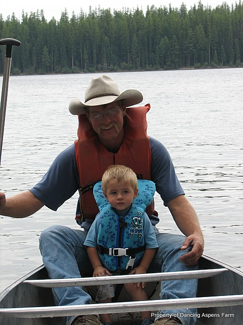 Mark and Teigy canoeing