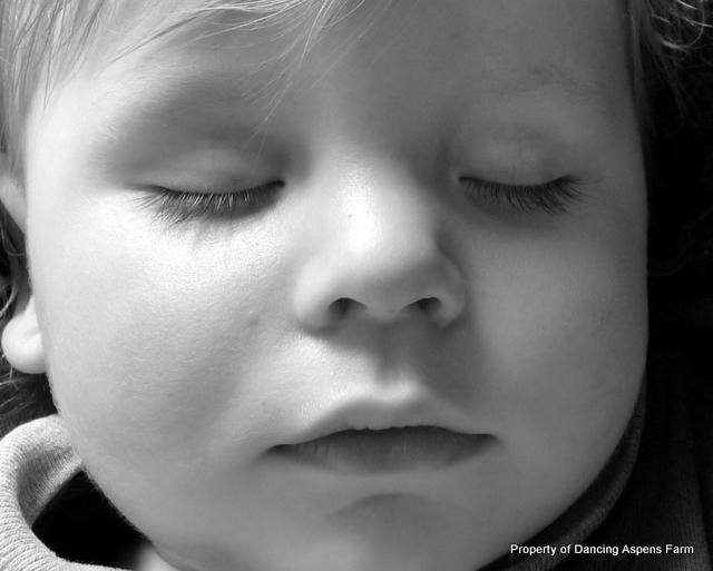 Tired little boy...