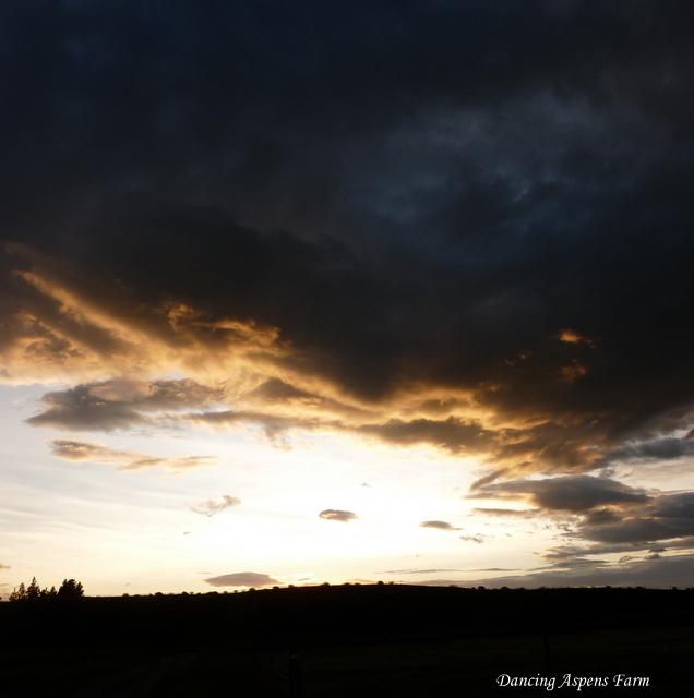 Big Clouds at Sunset
