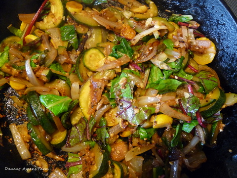 We have also been enjoying lots of summer squash, zucchini and swiss chard!