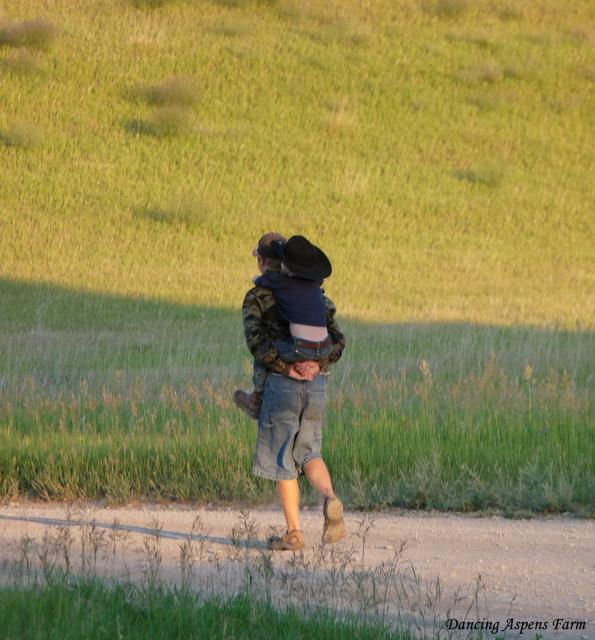 Lugging Hayden around...