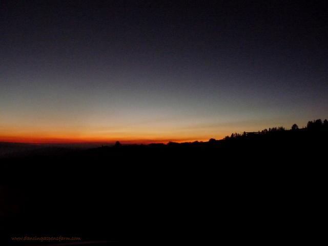 A fiery sunset as we left Helena...