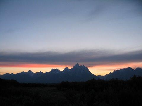 Tetons at sunset