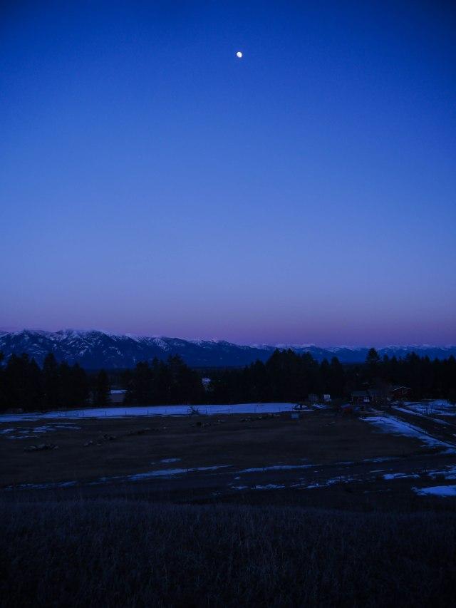Moon over the farm